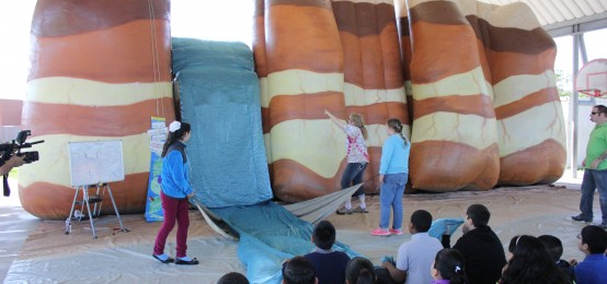 """Inflatable Classroom"" covers Weathering, Erosion at Oak Park"